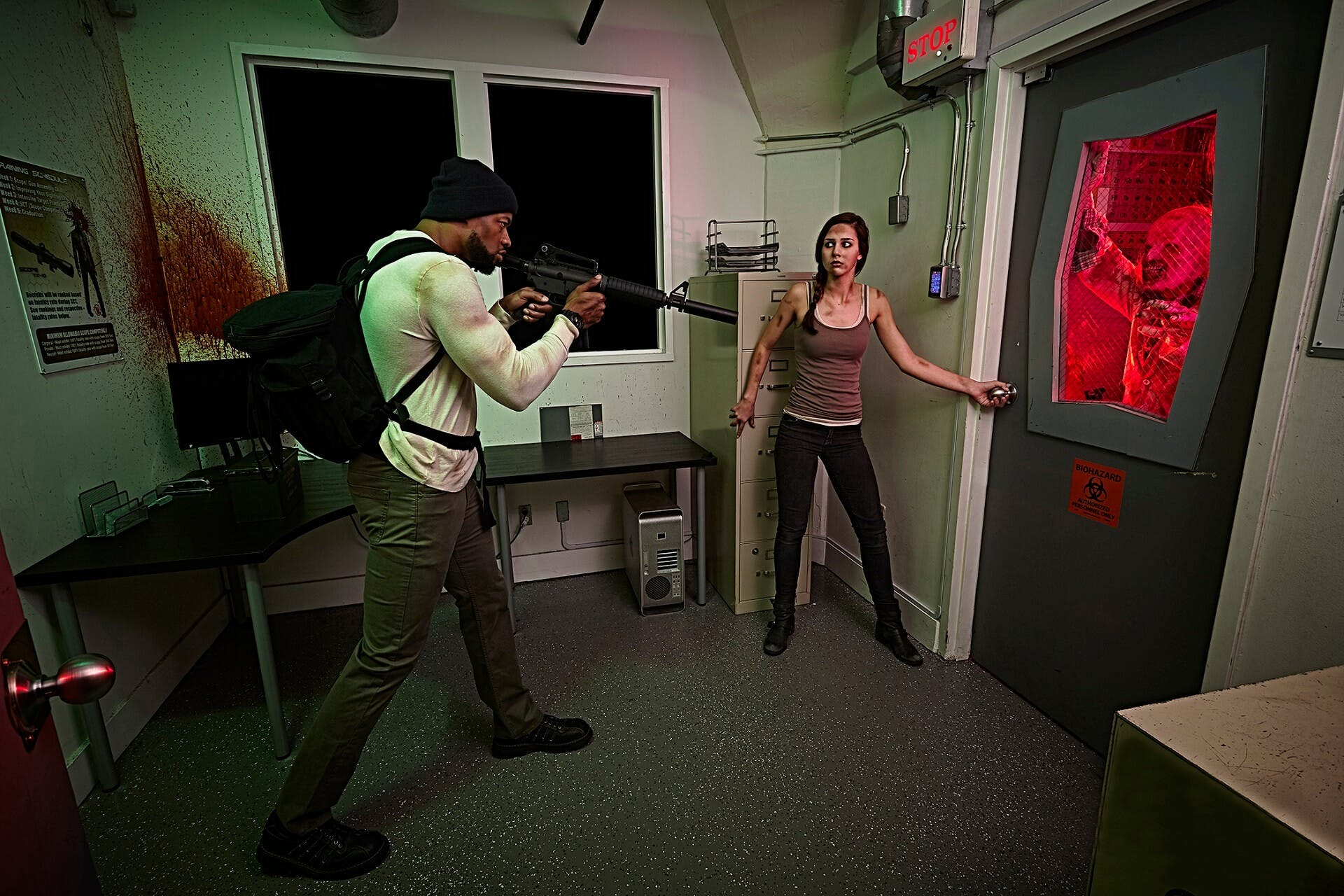 Zombie Apocalypse Escape Room Build Suspenseful Thriller